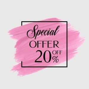 20% OFF SALE ON ALL ITEMS
